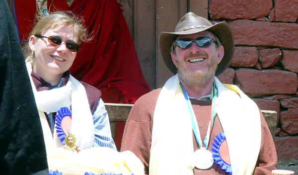 Helen Cawley and Michael Schmitz, winners of first Sir Edmund Hillary Mountain Legacy Medal